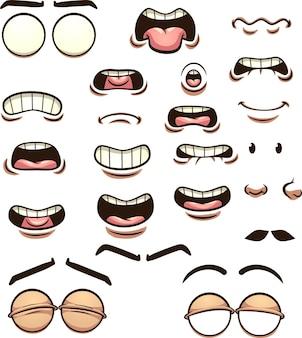 Illustrazione di espressioni facciali