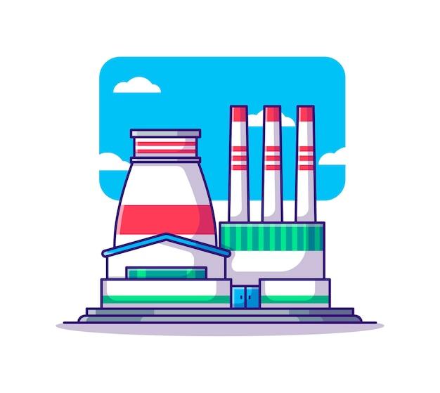 Cartone animato di costruzione di fabbrica