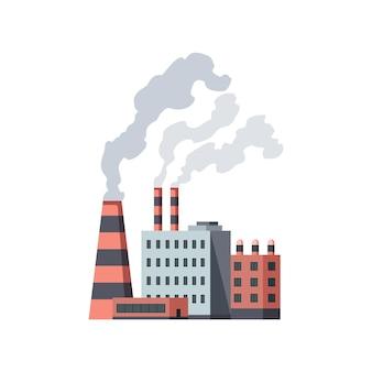 Industriale di fabbrica isolato su bianco