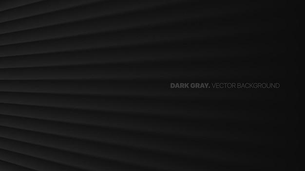 Prospettiva di dissolvenza linee oblique diritte lisce in una riga 3d effetto sfocato sfondo astratto grigio scuro