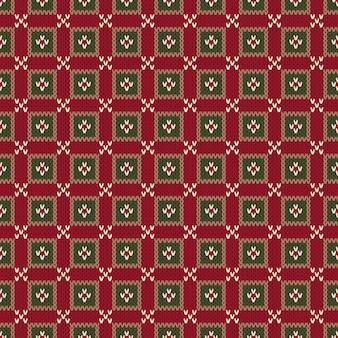 Motivo a maglia senza cuciture stile fair isle. maglione lavorato a maglia astratto senza cuciture di natale design.