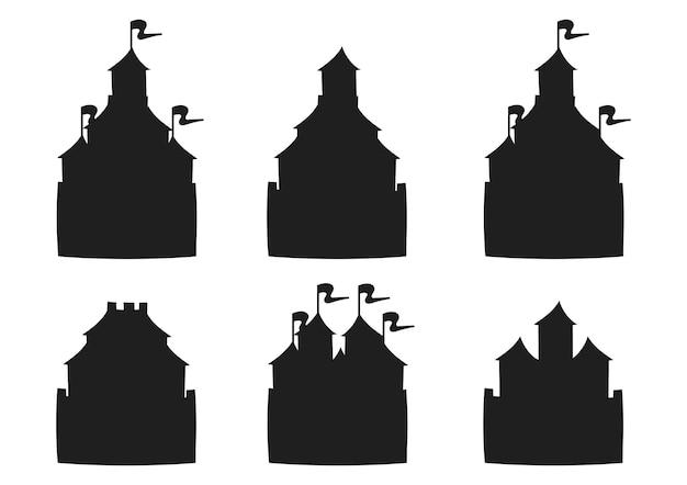 Castello da favola sagoma nera