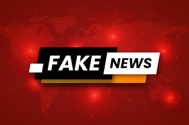 Concetto di sfondo notizie false
