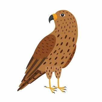 Uccello falco. illustrazione vettoriale isolato su sfondo bianco. eps10