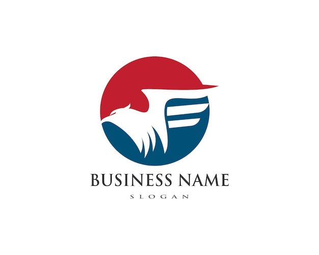 Falcon eagle bird logo template