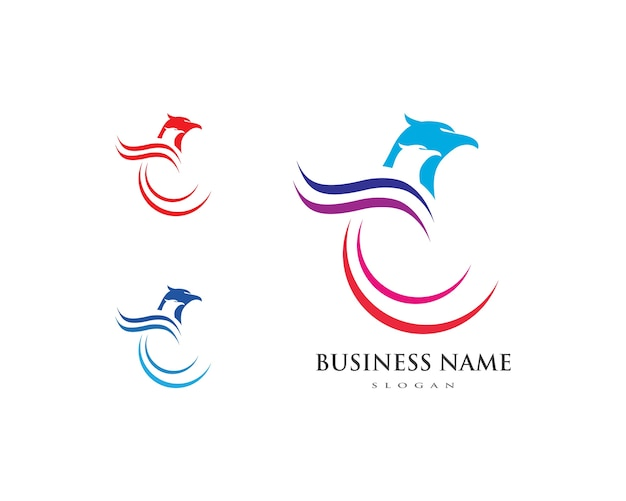 Logo falcon eagle bird