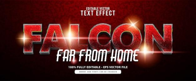 Falcon, heroes effetto testo rosso e argento lucido, adatto per titoli di film, poster e prodotti di stampa