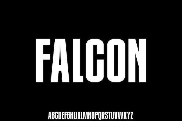 Falcon, carattere tipografico urbano condensato