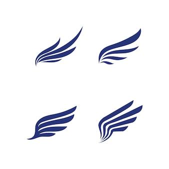 Falcon wings logo template icona logo design app