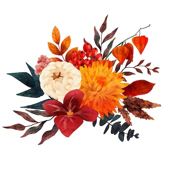 Bouquet autunnale la composizione autunnale arte vettoriale