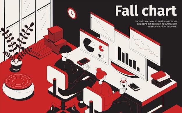 Illustrazione del grafico di caduta