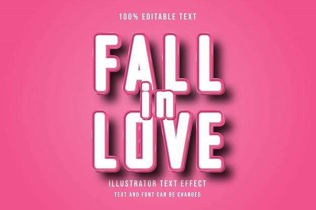 Innamorati, effetto di testo moderno rosa modificabile effetto soft 3d modificabile
