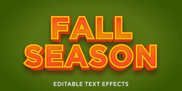 Effetti di testo modificabili stagione autunnale