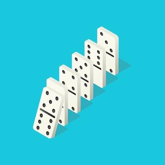 Domino che cadono