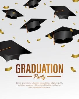 Cadendo molti cappello festa di laurea