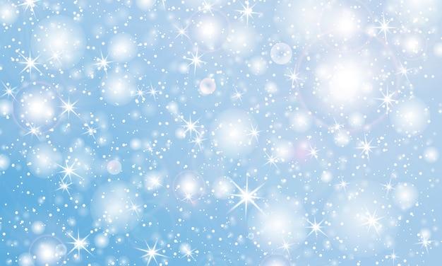 Neve che cade sullo sfondo. illustrazione. trama di neve invernale.