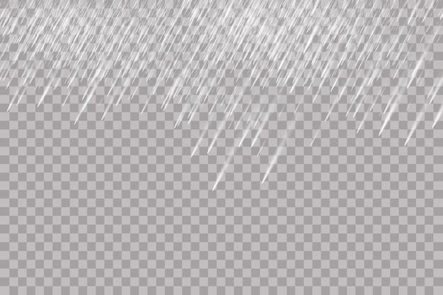 Texture di gocce d'acqua che cade isolato su sfondo trasparente