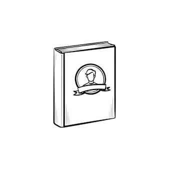 Icona di doodle di contorno disegnato a mano del libro di famiglia. album con foto di famiglia illustrazione schizzo vettoriale per stampa, web, mobile e infografica isolato su sfondo bianco.