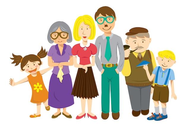 Cartone animato di famiglia