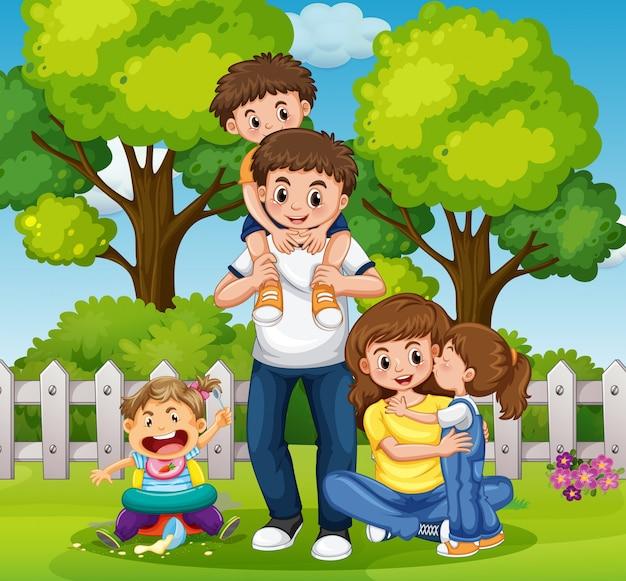 Giornata in famiglia nel parco