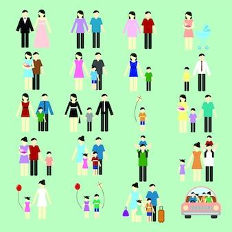 Collezione di icone di famiglia