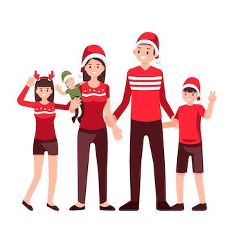 Riunione di famiglia, buon natale e felice anno nuovo