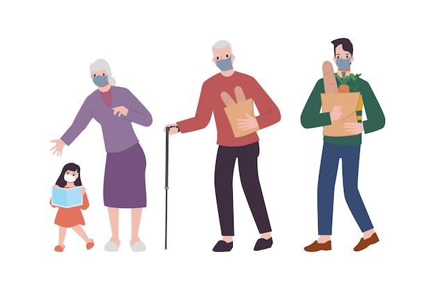 Familiari che si incontrano dopo lunghi periodi di inattività.