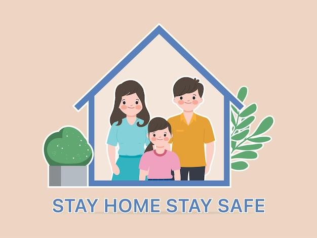 Le persone in famiglia stanno a casa con amanti e genitori.
