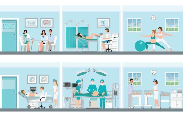 Pianificazione familiare con professionisti medici.