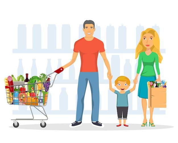 Set di personaggi per lo shopping in famiglia,