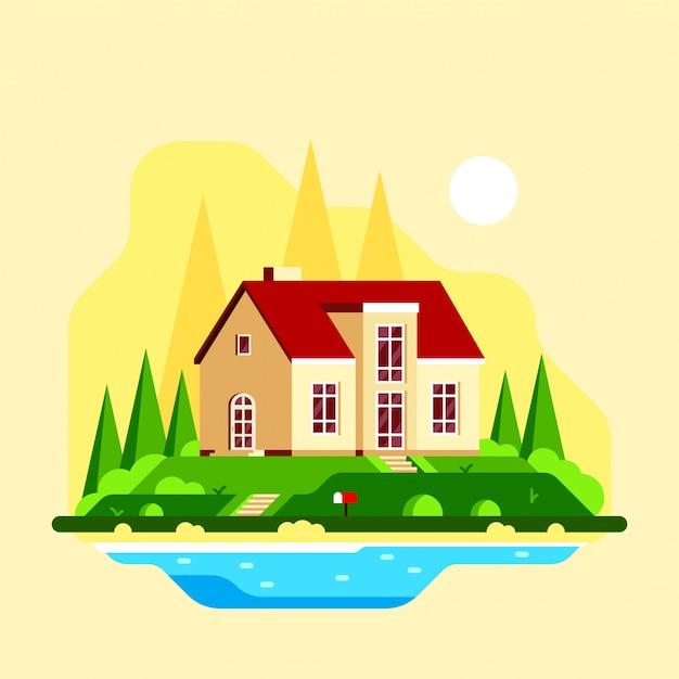 Casa di campagna suburbana familiare