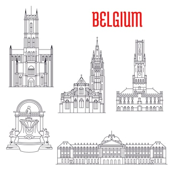 Famosi edifici storici del belgio