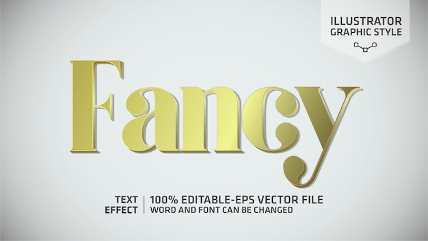 Stile grafico effetto testo fantasia oro