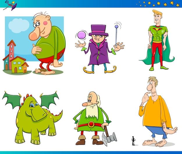 Set di personaggi fantastici