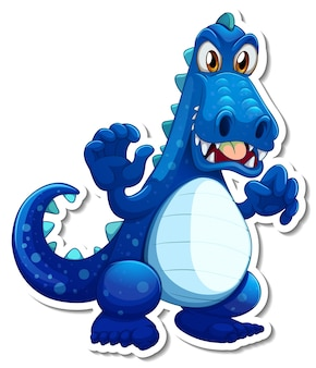 Adesivo personaggio dei cartoni animati drago fantasy