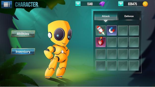 Viene visualizzato il menu dell'interfaccia utente di fantasy game