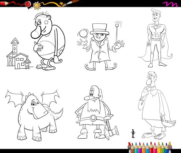 Pagina da colorare di fantasia