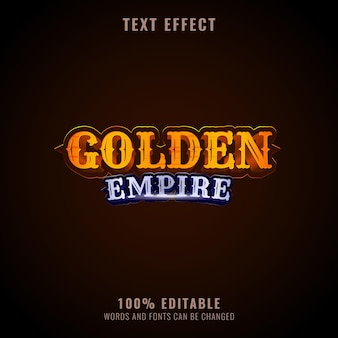 Fantasia effetto testo impero dorato design