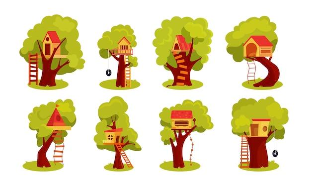 Fantasy treehouse per bambini playhouse sul cortile