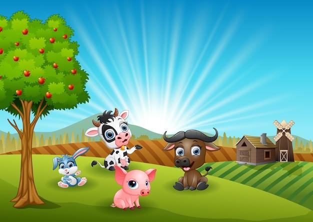 Farm animali del fumetto al mattino