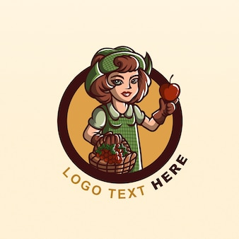 Logo fresco di fattoria