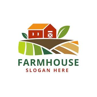 Agriturismo ranch agricoltura logo design stile moderno