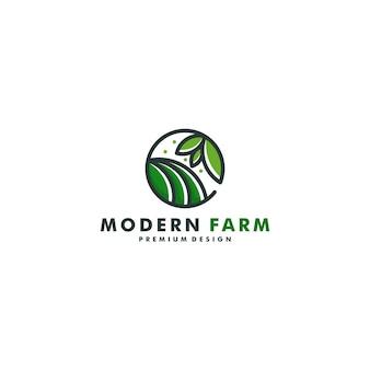 Progettazione del logo della fattoria. agricoltura