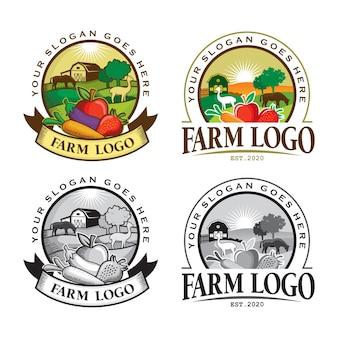 Logo dell'azienda agricola, fattoria dell'emblema
