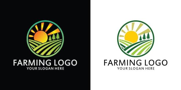 Modello icona logo fattoria