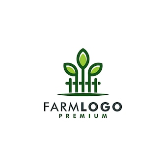 Vettore di logotipo dell'icona di progettazione del modello di logo dell'azienda agricola