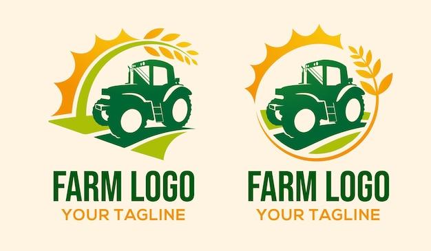 Disegno del modello del logo della fattoria