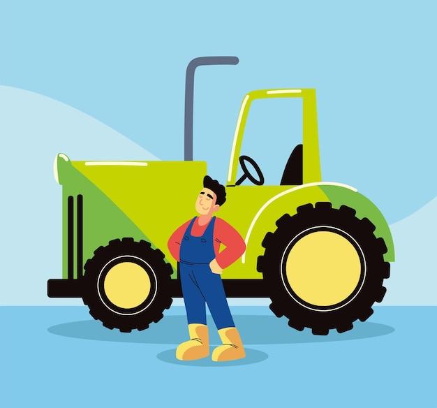 Contadino e trattore