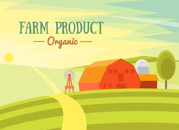 Prodotto di fattoria biologico.