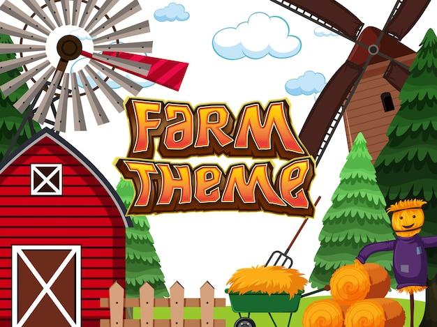 Uno sfondo a tema di fattoria